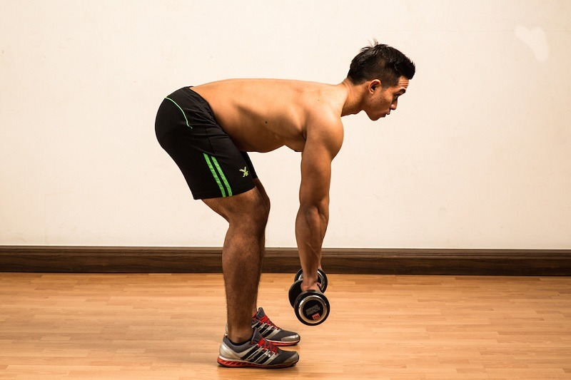 Dumbbell Row Start