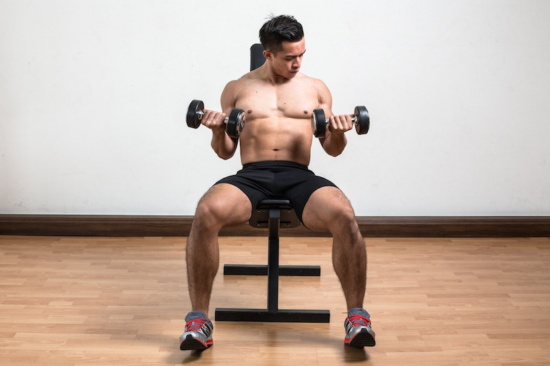 Incline Dumbbell Curls Finish