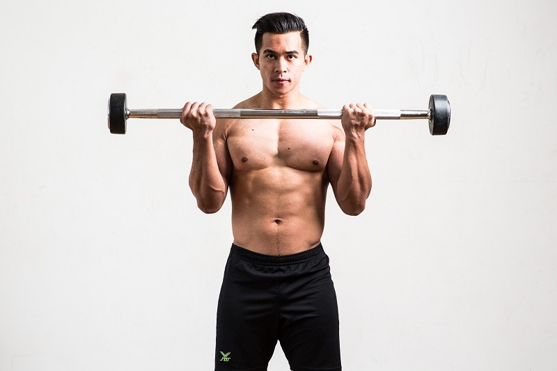 Standing Barbell Curl Finish