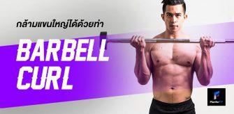 กล้ามแขนใหญ่ได้ด้วยท่า Barbell Curl