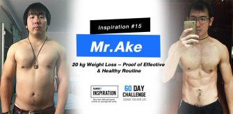 Inspiration #15  Mr.Ake 20 kg Weight loss – Proof of effective & Healthy routine