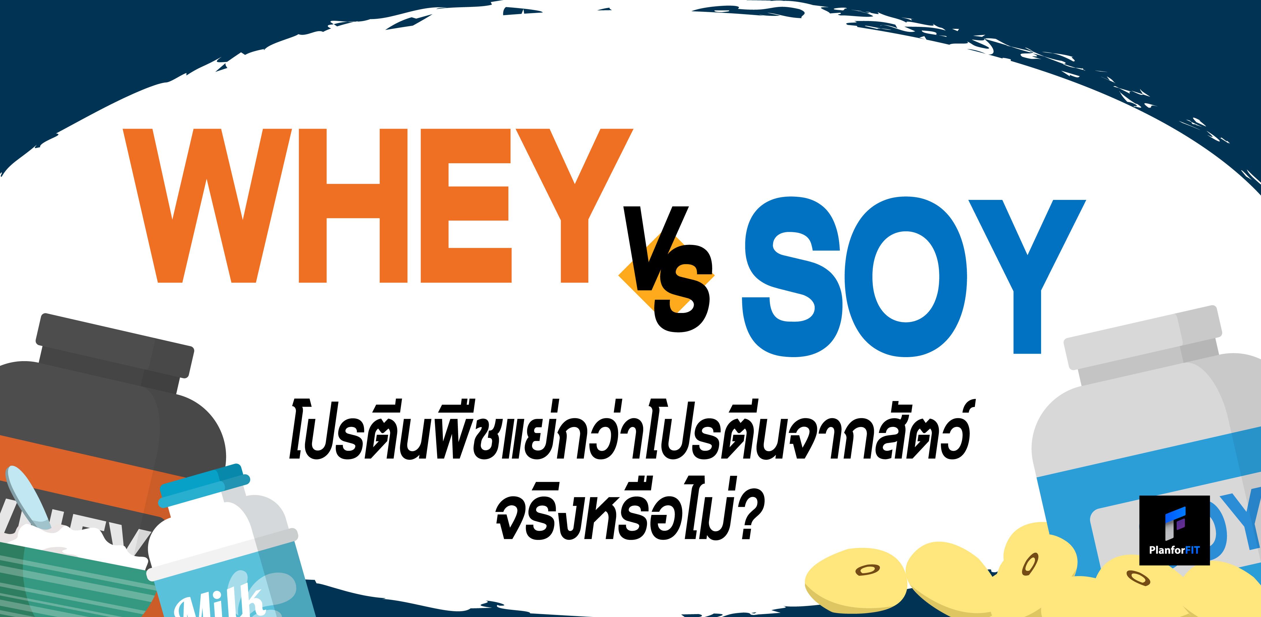 Whey vs Soy: โปรตีนจากพืชแย่กว่าโปรตีนจากสัตว์ จริงหรือไม่?